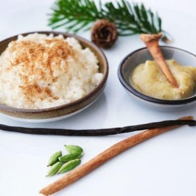 Milchreis mit Zimt Vanille und Kardamom natürliche Gewürze von roots. natural