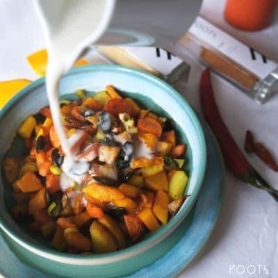 Winterliches Gemüse mit Ingwer, Chili, Vanille und Zimt
