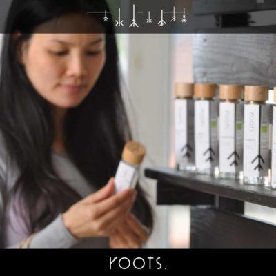 Potenzial guter Gewürze beim Anblick vom roots. Gewürzglas