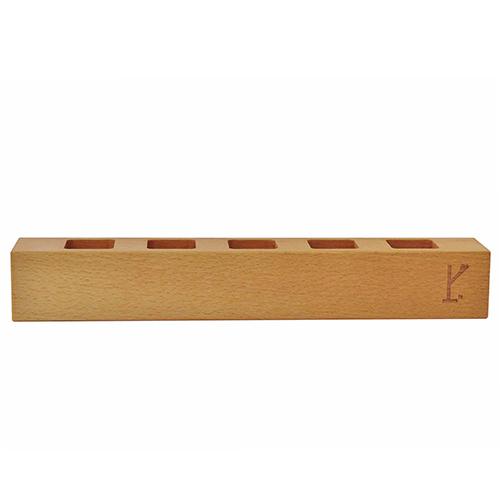 Gewürzständer für fünf Gewürze:Gewürzständer aus deutschem Holz für fünf Gewürze