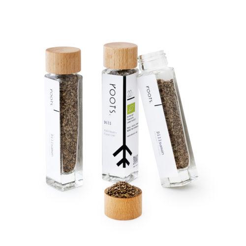 Dillsamen bio kaufen von roots im Gewuerz-Glas natuerlich und direkt aus Tunesien
