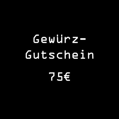 Gutschein Gewuerze 75 Euro von roots zum Einkauf im Online Gewuerz-Shop