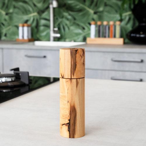 Gewuerzmuehle kaufen aus hochwertigem Kernbuchenholz mit Keramik-Mahlwerk