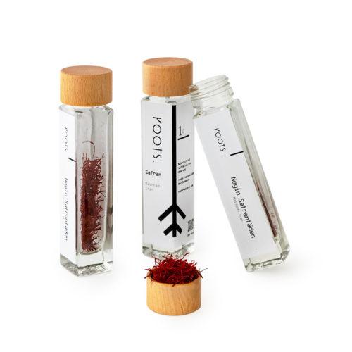 Safranfaeden kaufen von roots im Gewuerz-Glas natuerlich und direkt aus Persien