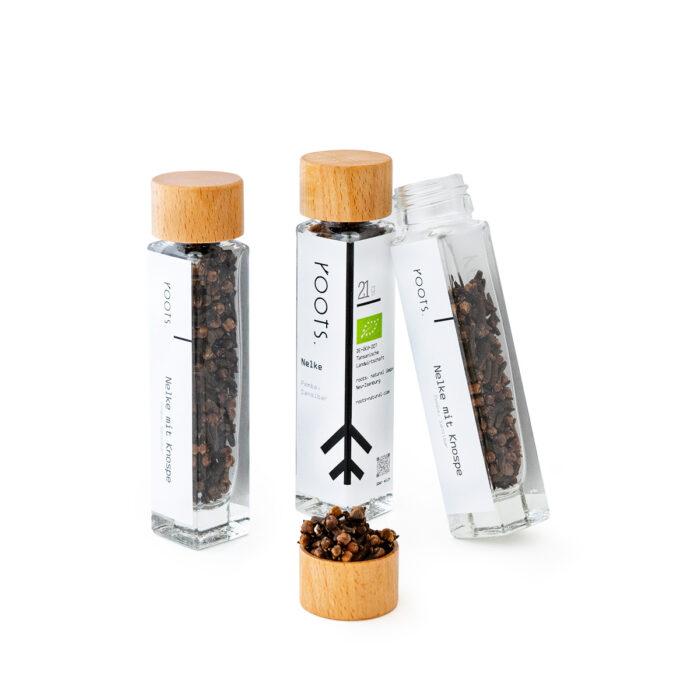 Gewuerznelke kaufen bio von roots im Gewuerz-Glas natuerlich und direkt aus Pemba-Sansibar