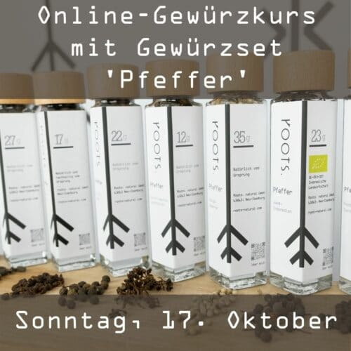 Online-Gewuerzkurs mit Gewuerzset Pfeffer