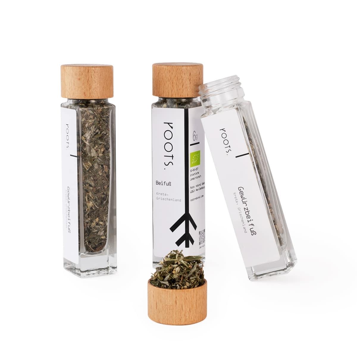 Beifuss kaufen bio von roots im Gewuerz-Glas natuerlich und direkt aus Kreta